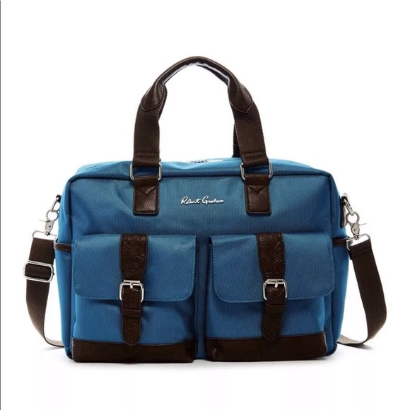 Robert Graham Other - 🆕 Robert Graham Teal Brown Mens Pascal Duffel Bag